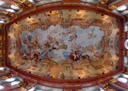 panorama: the entire ceiling of the marble hall, melk abbey