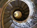 selfportrait, spiral staircase between the library and church