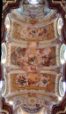 vertical panorama: ceiling frescoes, st. peter and paul collegiate church