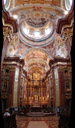 vertical panorama: central nave and high altar, st. peter and paul collegiate church