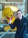 me with giant stuffed dog