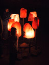 7 enormous salt crystal lamps. 2008-09-25, Sony F828. keywords: salt worlds, salzwelten hallstatt