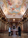 the library of world famous stift melk (melk abbey)