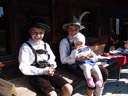 children in traditional costumes, museum of tyrolean farms