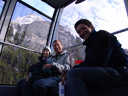 cindy, larry & anton - gondola w/ zugspitze in the background