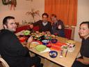 raclette evening - robert, fabio, andi, nadja