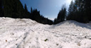 panorama: avalanche field. 2009-04-07, Sony F828. keywords: snowslide