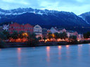 a view of mariahilf and the inn river, innsbruck