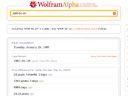 wolfram alpha screenshot on 2009-05-31