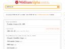 wolfram alpha screenshot vom 2009-05-31 || foto details: 2009-05-31, rum, austria, .