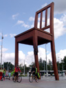 at the giant broken chair, geneva. 2009-07-18, Sony F828.