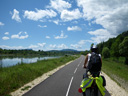 the short but perfect bicycle track along part of the rhone river