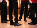 singing boys. 2007-06-23, Pentax W20. keywords: legs