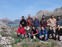 botanical excursion to mallorca - group photo: christian, denise, marianne, konrad, chiara, juergen, daniel, marianne, andrea, sigi, markus & hanspeter
