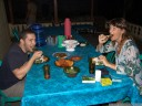 math and brigitte - dinner at malenge indah (malenge village). 2011-08-29 09:09:40, DSC-F828.