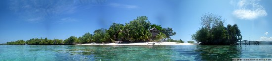 panorama: poya lisa cottages, bomba, togean islands