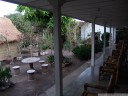 a very tidy garden compound at oka homestay, mataram