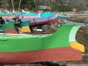 colourful sasak fishing boats