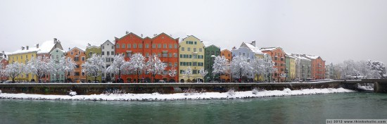 panorama: mariahilf, innsbruck's most beautiful houses in winter