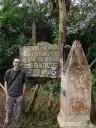 """""""bienvenidos a nicaragua"""" - boundary stone along the rio frio"""