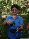 dona christina presents plants from her medicinal garden &quot;la aroma-tica&quot;, near la fortuna