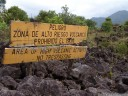 area of high volcanic activity, no trespassing.