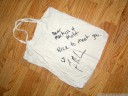 tim signed our canvas bag! (altitude festival)
