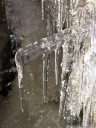 icicles inside the dachstein ice cave