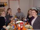 fondue with elisa, julia, math, christina and kathy