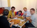 pizza with christoph, lorenz, anton, andi & math