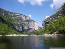 canoeing through the gorges de l'ardèche