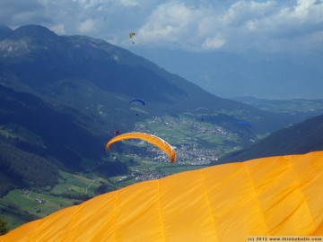 the sky was litterally full of paragliders