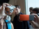 die orange limitierte edition der lytro kamera, in der gebürstetes-metall-ausführung || foto details: 2012-09-21 05:26:53, cologne, germany, DSC-F828.