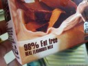 some things really are upside down (98 % fat free, or 2 % fat?)