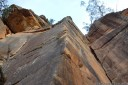 rock climbing at mt piddington, blue mountains. 2012-11-04 07:21:13, DSC-RX100.