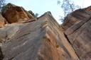 rock climbing at mt piddington, blue mountains