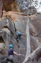 harry climbs faith - rock climbing, mt. piddington, blue mountains. 2012-11-18 01:01:52, DSC-RX100.