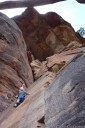 carrie climbs sincerity, mt piddington, blue mountains