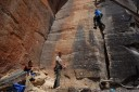 rock climbing with carrie, john, harry and danielle