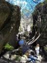 """john climbs """"wet feet"""", at dam cliffs"""
