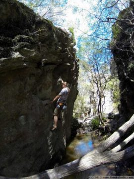 saturday: rock climbing with carrie & john at dam cliffs, blue mountains