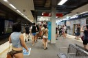 changing platforms - sydney no pants subway ride 2013