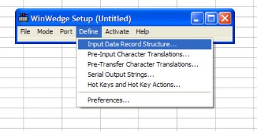 "in the file menu, open ""Define"" - ""Input Data Record Structure""."