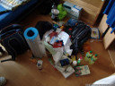 evening before: the pile to pack
