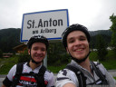 day 1's destination reached: st. anton am arlberg