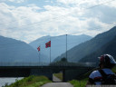 crossing the swiss-liechtensteinian border: rather unspectacular.