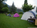 tent size comparison. ours is in the far back