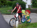 pumuckl on a bike