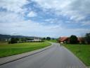 descent towards sempach, switzerland
