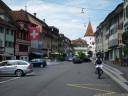 swiss patriotism - stadtstraße, sempach, switzerland